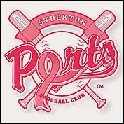 Stockton Ports pink logo