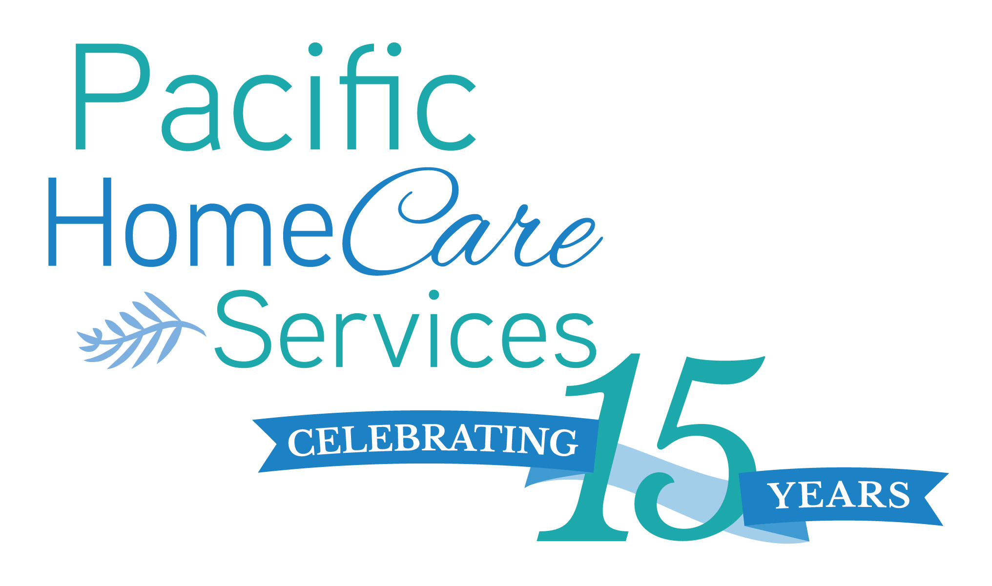 Pacific Homecare Services 15th anniv logo