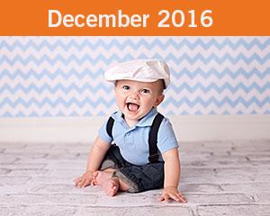 December 2016 Tiny Toes Winner