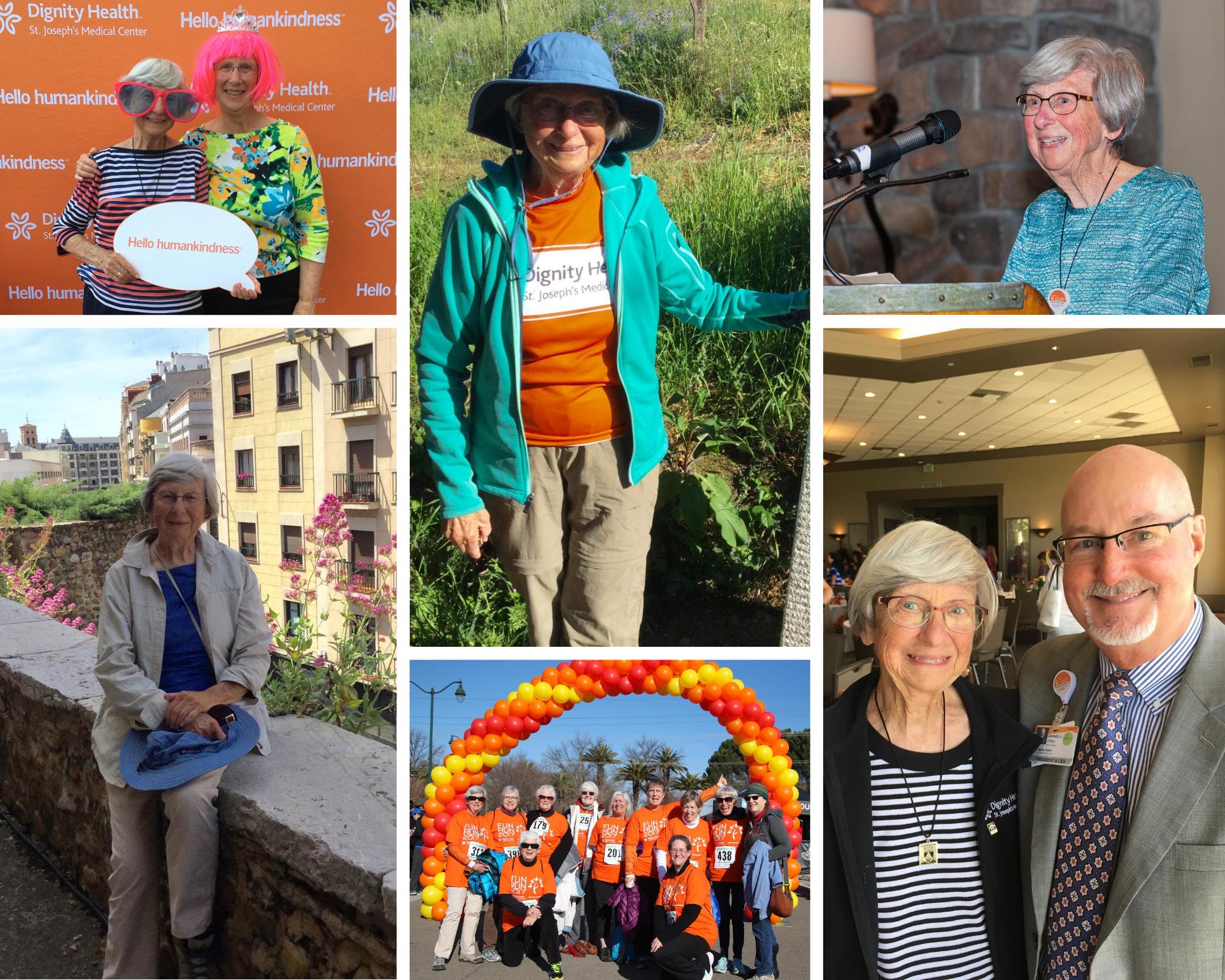 Sister Katherine Hamilton photo collage